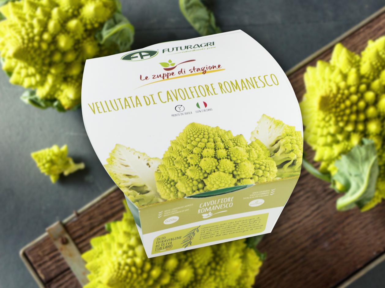 Zuppe di stagione Futuragri - Vellutata di cavolfiore romanesco