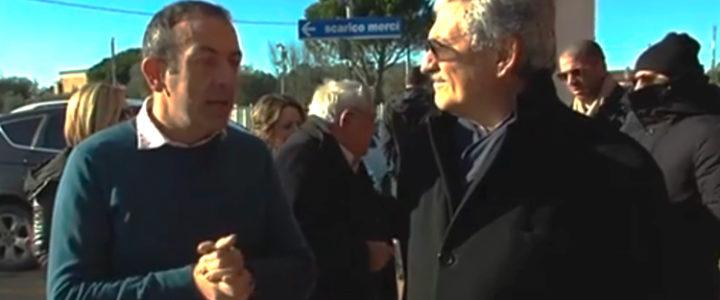Massimo D'Alema a Foggia in visita alla Futuragri