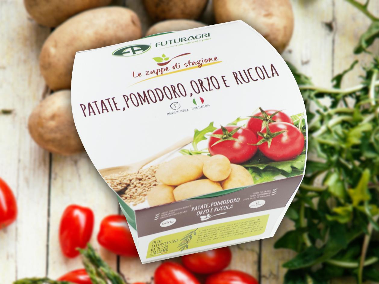 Zuppe di stagione Futuragri - Zuppa di patate, pomodoro e orzo