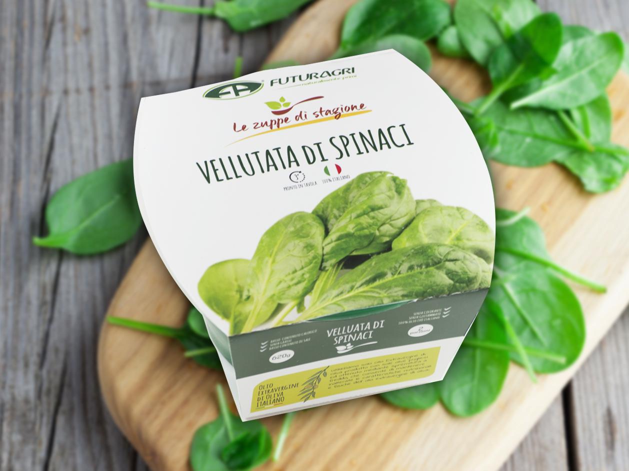 Zuppe di stagione Futuragri - Vellutata di spinaci