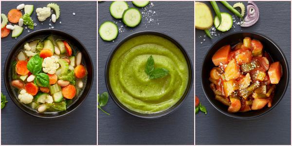 Collage zuppe senza aglio